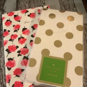 2 pc Kate Spade Notepad, Notebook